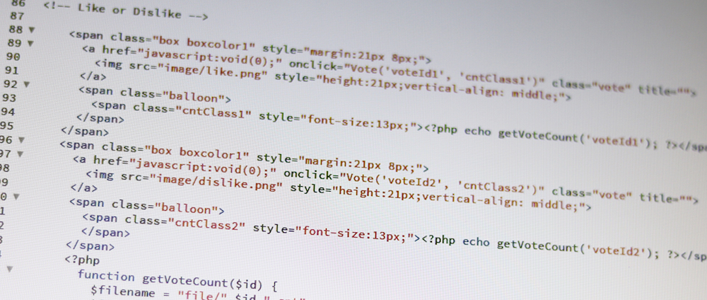 HTMLタグを映し出すモニター画面